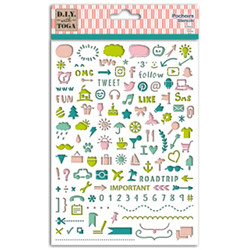 Pochoir icones bujo 15x20