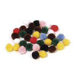Pompons, assorties, 10 mm