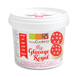 Pot mix glaçage royal rouge 190g
