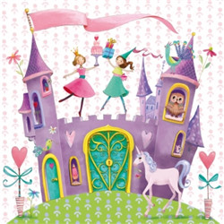 Serviette chateau princesse