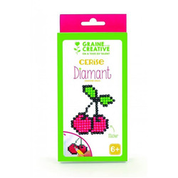 Set diamant stickers -  cerise