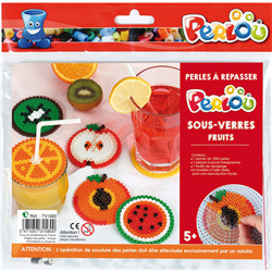Set perlou dessous de verres - fruits