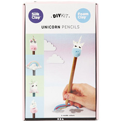 Set silk clay crayon licorne