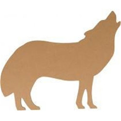 Silhouette mdf 25cm loup