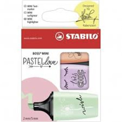 Stabilo boss mini pastellove wallet 3