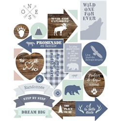 Stickers textes woodland