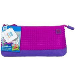 trousse pixels rose fuschia