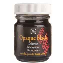 Wasco gouache pot 50ml noir opaque